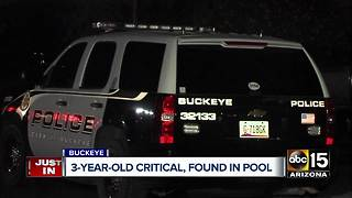 Child hospitalized after being pulled from pool in Buckeye