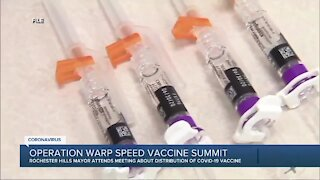 Rochester Hills mayor recaps White House summit on COVID-19 vaccine