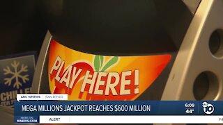 Mega Millions jackpot reaches $600 million