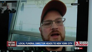 Omaha-area funeral director heads to New York City