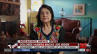 Dolores Huerta endorses Joe Biden for president