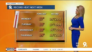 A beautiful weekend, but record heat coming