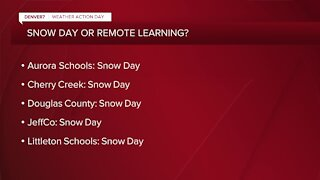 List: Snow day, remote learning for many Colorado schools