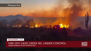 FD: Brush fire sparks near Cave Creek and Desert Sonoran roads