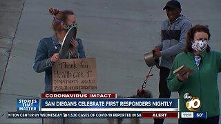 San Diegans celebrate frontline workers every night