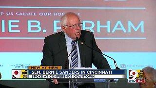 Beating Trump will be a team effort, Sanders tells Cincinnati