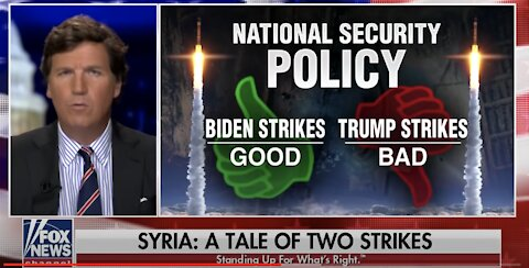 Tucker Carlson ANNIHILATES the Media on Their Coverage of Biden's Syrian Airstrikes
