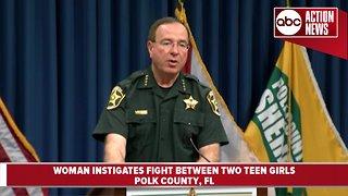 Florida woman arrested after instigating fight between teen girls, deputies say