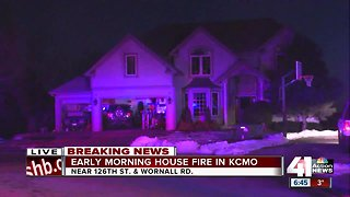 KCFD firefighter, family safe after their home catches fire