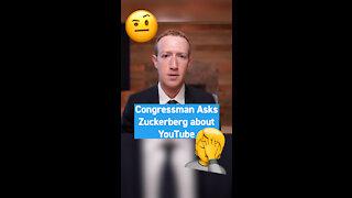 Congressman Asks Mark Zuckerberg a YouTube Question 🤦♂️ - WTA #Shorts