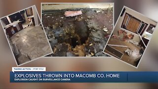 Explosives thrown into Macomb County home