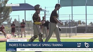 Padres to allow fans at Spring Training