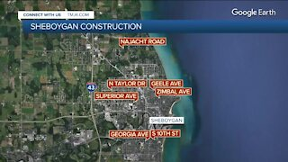 Multiple construction projects taking place in Sheboygan