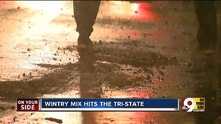 Wintery mix could cause slick road conditions