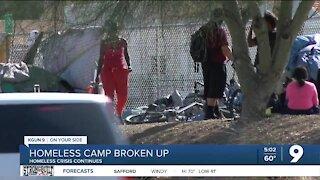 Homeless camp broken up