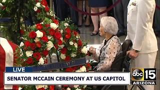 Meghan McCain and Roberta McCain at Washington ceremony