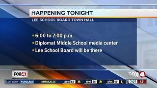 Lee County School Board meeting with parents