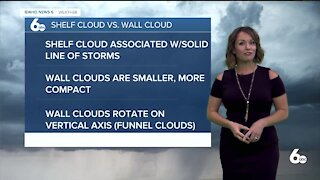 Meteorologist Rachel Garceau explains shelf cloud vs. wall cloud