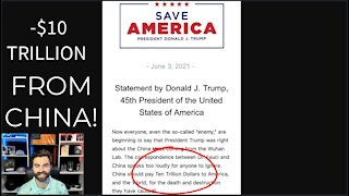 Pres. Trump DEMANDS TEN TRILLION DOLLARS From China For COVID-19 Damages! LOL