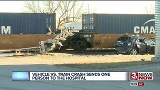 Vehicle vs. Train Crash Sends One Person To The Hospital