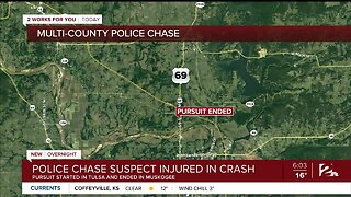 Police Chase Suspect Injured In Crash