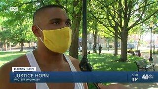 Protest organizer speaks on silent march