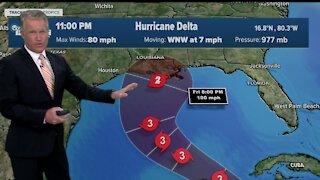 Strengthening Hurricane Delta roars toward Mexico's Yucatan