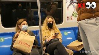 Best New Prank Video 2021 on Subway Train Way