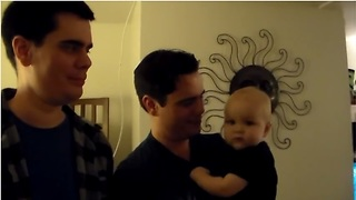 Sweet Baby Is Confused By Dad's Identical Twin
