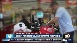 Grocery workers to wear masks starting this weekend