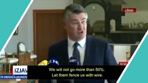 Watch Croatia PRESIDENT Say No More Jabs / Hugo Talks #lockdown