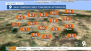 Significant drop in temperatures before weekend warm-up