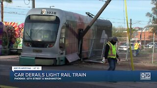 FD: 6 injured after car plows into light rail in Phoenix