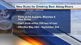 New rules for drinking beer along Michigan rivers