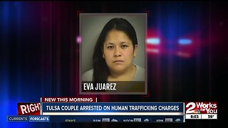 Tulsa couple arrested on human trafficking charges