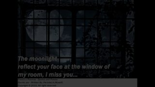 The moonlight reflect your face, I miss you... [Quotes and Poems]