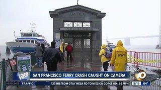 San Francisco ferry crash caught on camera