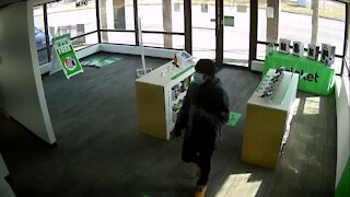 Cricket Wireless armed robbery video 1