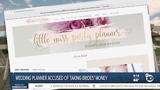 Wedding planner accused of taking Brides' money