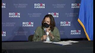 Kamala Harris attends COVID-19 conversation in Las Vegas