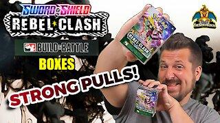 Rebel Clash Build & Battle Boxes | Pokemon Cards Opening