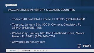 Hendry and Glades Counties begin vaccinations