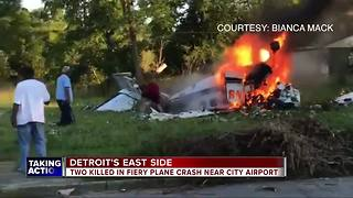 Two people killed following small plane crash in Detroit