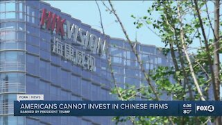 Trump signs order to prohibit investing in Chinese firms