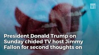 Trump Slams 'Whimpering' Fallon; 'Be a Man Jimmy'
