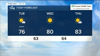 Cooler temperatures in store for Tuesday
