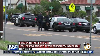 Homicide detectives investigating death near Balboa Park