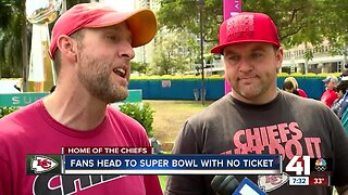 Fans head to Miami without Super bowl tickets