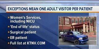 Southern Hills Hospital restricting hospital visitors again