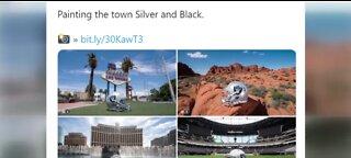 Vegas Raiders helmet goes on tour of Las Vegas